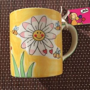 NWT Handpainted Mug by Mila Design with a Smile